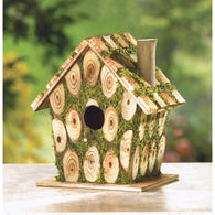Moss-Edged Birdhouse - Distinctive Merchandise