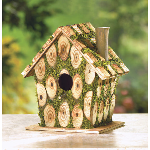 MOSS-EDGED BIRDHOUSE