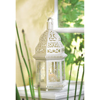 WHITE MOROCCAN LANTERN - Distinctive Merchandise