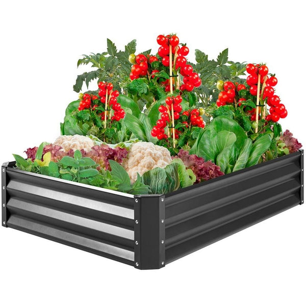 Dark Gray Raised Garden Planter Bed