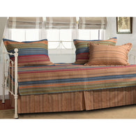 Reversible 5-Piece Daybed Set with Bed-skirt and Three Pillow Shams - Distinctive Merchandise