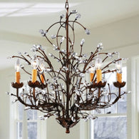 Antique Bronze 6-light Crystal and Iron Chandelier - Distinctive Merchandise