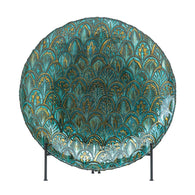 Abstract Peacock Decorative Plate - Distinctive Merchandise