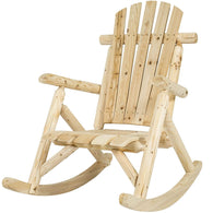Outdoor Wooden Log Rocking Chair - Adirondack Style - Distinctive Merchandise