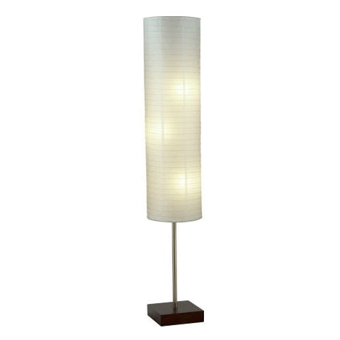Modern Asian Style Floor Lamp with White Rice Paper Shade - Distinctive Merchandise