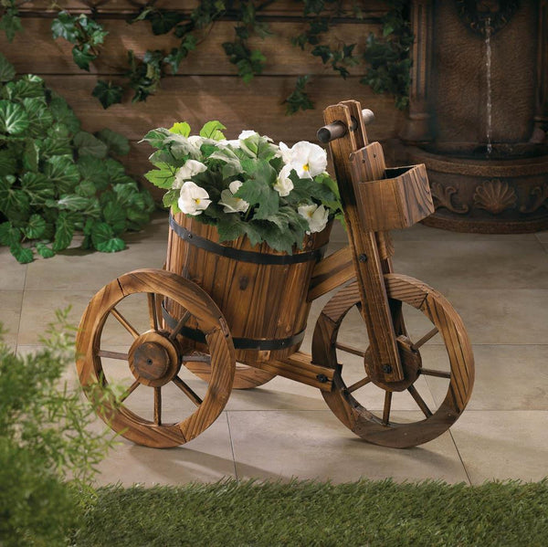Barrel Tricycle Planter - Distinctive Merchandise