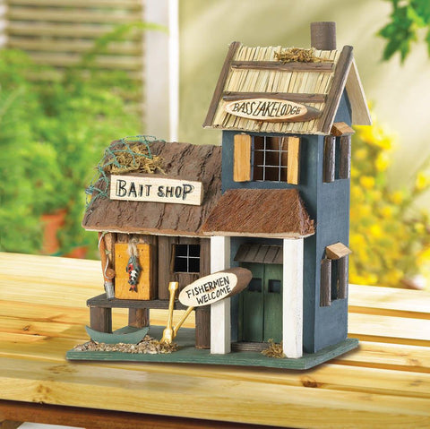 Bass Lake Lodge Birdhouse - Distinctive Merchandise