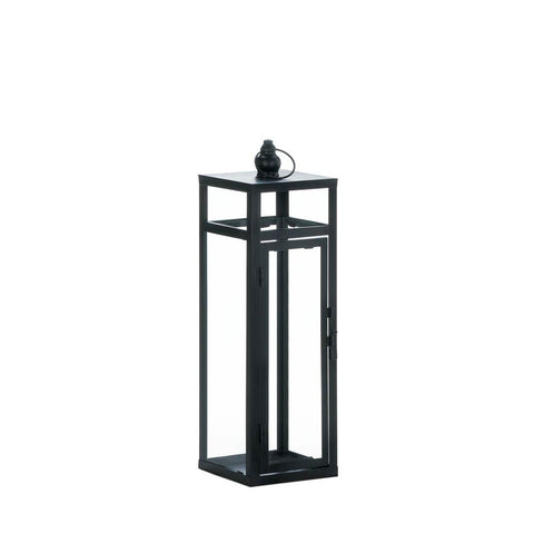 Black Dramatic Geometry Lantern - Distinctive Merchandise