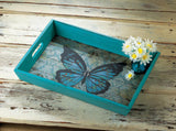 Blue Butterfly Serving Tray - Distinctive Merchandise