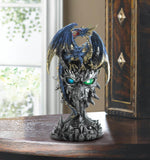 Blue Dragon Warrior Statue - Distinctive Merchandise