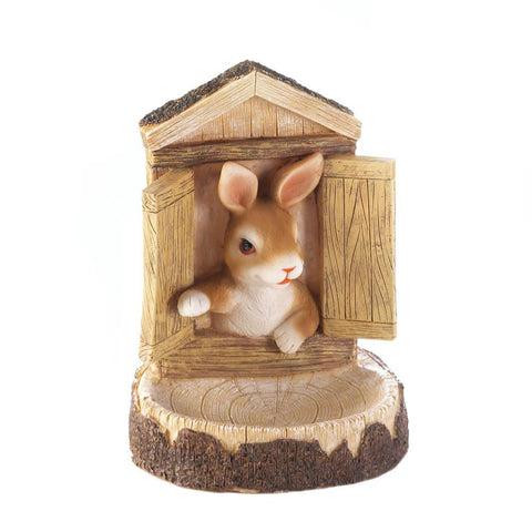 Bunny Wall Hanging Bird Feeder - Distinctive Merchandise