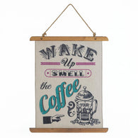 Coffee Perk Up Linen Wall Art - Distinctive Merchandise