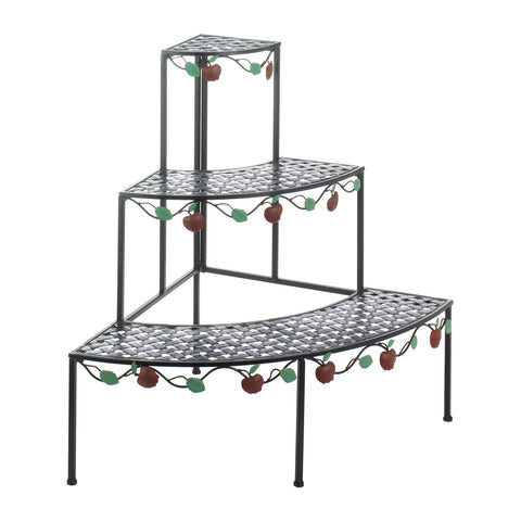 Country Apple 3-Tier Plant Stand - Distinctive Merchandise