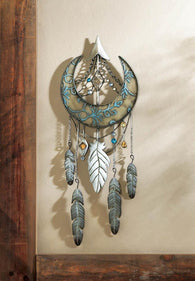 Crescent Moon Dreamcatcher Wall Décor - Distinctive Merchandise