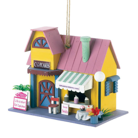 Cupcake Bakery Birdhouse - Distinctive Merchandise
