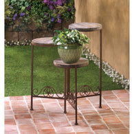 RUSTIC TRIPLE PLANTER STAND - Distinctive Merchandise
