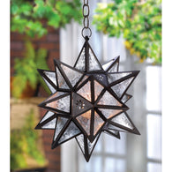 MOROCCAN HANGING STAR LANTERN - Distinctive Merchandise