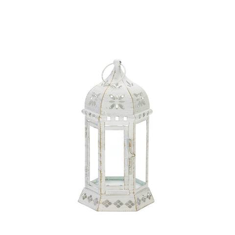 Distressed Floral Lantern - Distinctive Merchandise