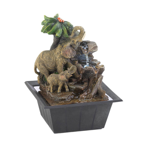 Elephant Family Tabletop Fountain - Distinctive Merchandise