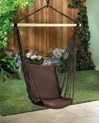 ESPRESSO COTTON PADDED SWING CHAIR - Distinctive Merchandise