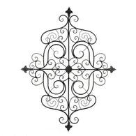 Fleur-De-Lis Scrollwork Wall Plaque - Distinctive Merchandise