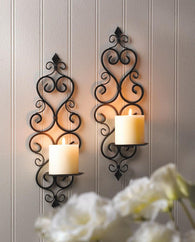 Fleur-De-Lis Wall Sconce Duo - Distinctive Merchandise