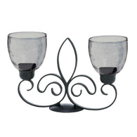 Fleur-De-Lis Duo Candle Stand - Distinctive Merchandise