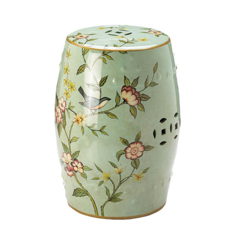 FLORAL GARDEN DECORATIVE STOOL - Distinctive Merchandise