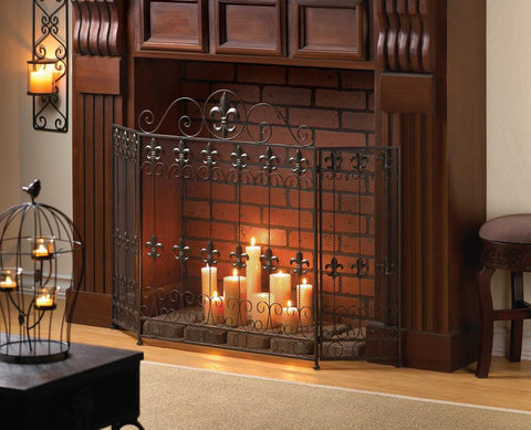 FRENCH REVIVAL FIREPLACE SCREEN - Distinctive Merchandise