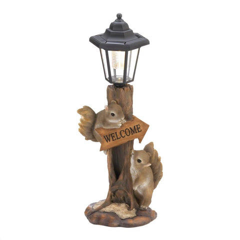 Friendly Squirrels Solar Lamp - Distinctive Merchandise
