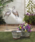 Galvanized Flamingo Statue - Distinctive Merchandise