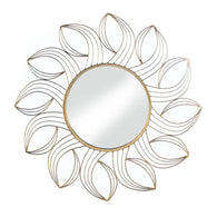 Golden Petals Wall Mirror - Distinctive Merchandise