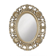 Golden Scallop Wall Mirror - Distinctive Merchandise