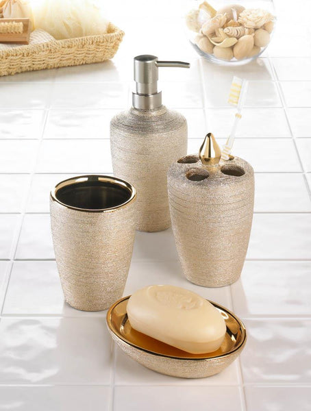 GOLDEN SHIMMER BATH SET - Distinctive Merchandise