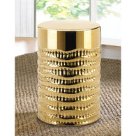 Gold Textured Stool - Distinctive Merchandise