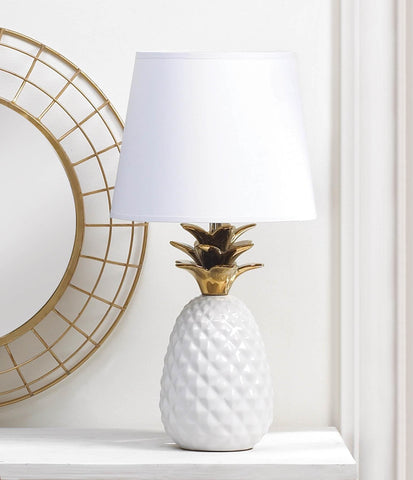 Gold Topped Pineapple Lamp - Distinctive Merchandise