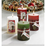 Holiday Wreath Scented Candle 3x4 - Distinctive Merchandise