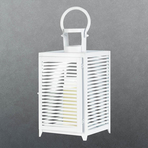 Large White Horizon Lantern - Distinctive Merchandise