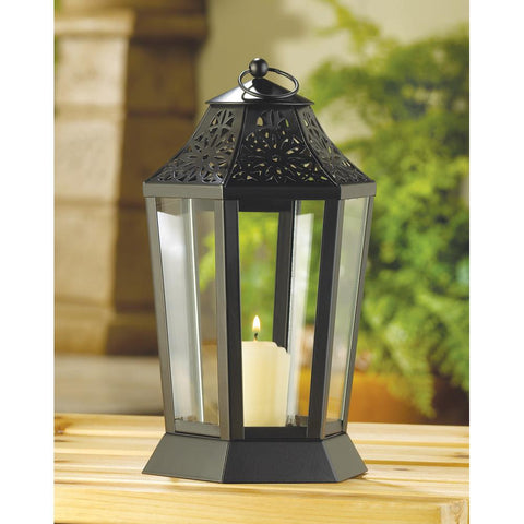 MIDNIGHT GARDEN CANDLE LANTERN - Distinctive Merchandise
