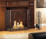 MODERN GEOMETRIC FIREPLACE SCREEN - Distinctive Merchandise