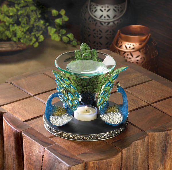 PEACOCK PLUME OIL WARMER - Distinctive Merchandise