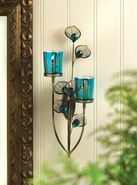 Peacock Plume Wall Sconce - Distinctive Merchandise