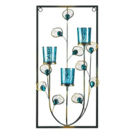 Peacock Three Candle Wall Sconce - Distinctive Merchandise