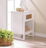 PERFECT WHITE SIDE TABLE - Distinctive Merchandise