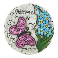 Pink Butterfly Garden Stepping Stone - Distinctive Merchandise