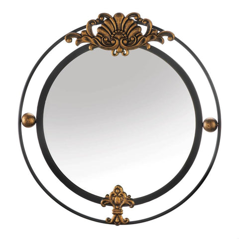 Regal Wall Mirror With Gold Accent - Distinctive Merchandise
