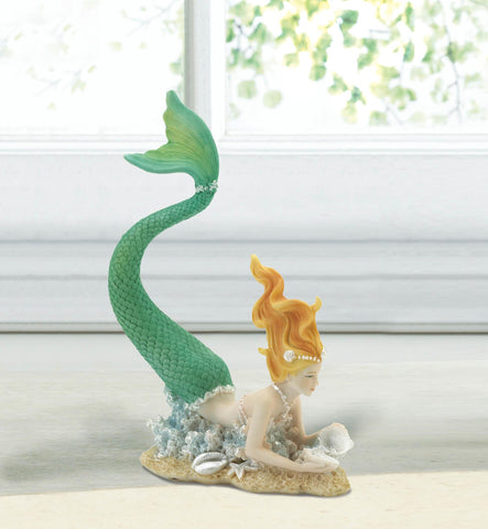 Resting Tail Up Mermaid Figurine - Distinctive Merchandise