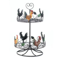 ROOSTER 2 TIER COUNTERTOP RACK - Distinctive Merchandise