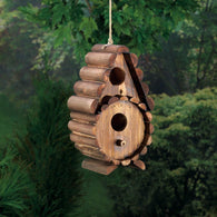 Round Log Birdhouse - Distinctive Merchandise