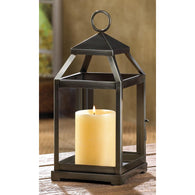 RUSTIC SILVER CONTEMPORARY LANTERN - Distinctive Merchandise